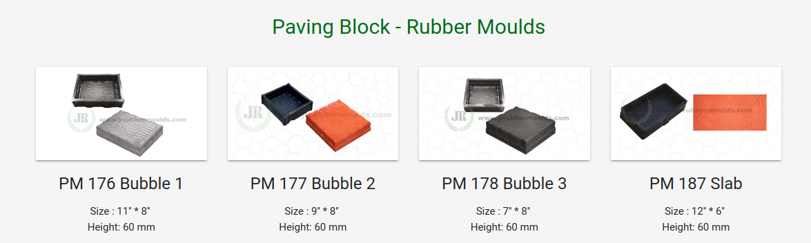 Paving Blocks Types.